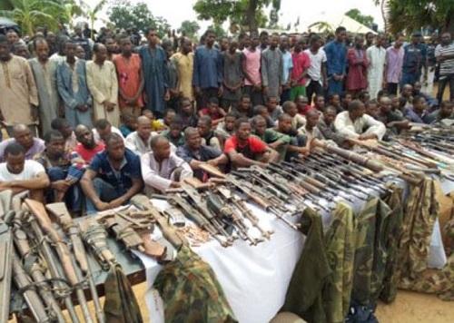 Police Parade 93 Suspected Kidnappers Terrorising Kaduna-Abuja Road 2