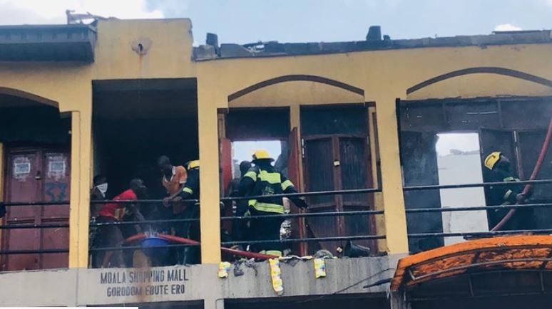 Two Shops With Household Utensils Were Destroyed In A Fire Which Gutted Two Shops At Maola Shopping Mall In Idumota Area Of Lagos On Friday. Dr Olufemi Oke Osanyintolu, Director General, Lagos Sta
