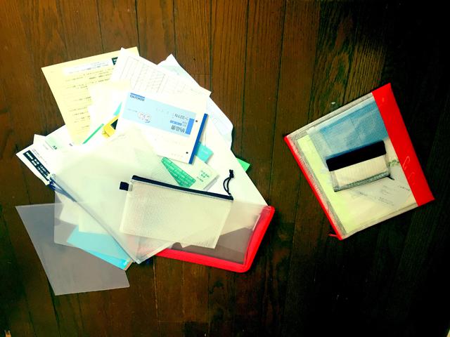 分類が終わった書類