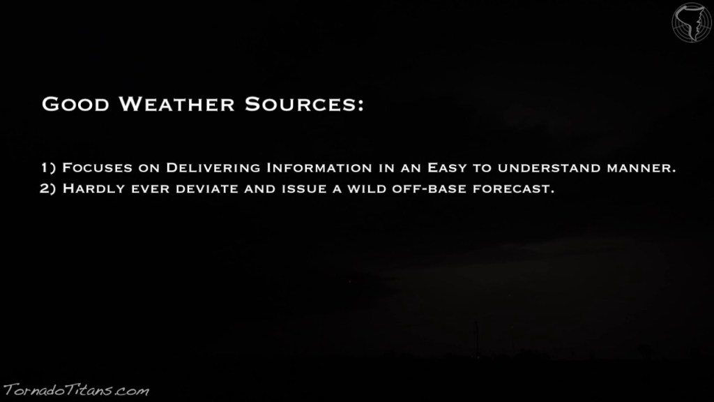 Spotting A Good Weather Source vs. a Bad Weather Source