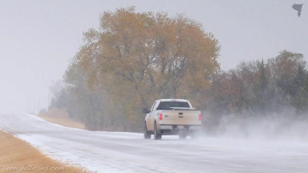 November 16, 2014  Storm Chasing | Snow Falling in Oklahoma City Metro