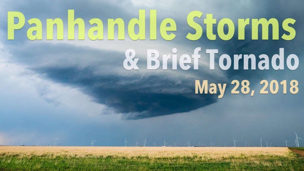 May 28, 2018 Storm Chase | Beautiful LP Supercell and then Tornado in the TX/OK Panhandles!
