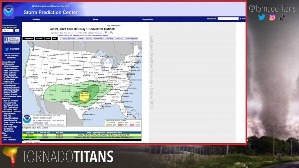 Severe Weather Chase Forecast Discussion – January 24, 2021