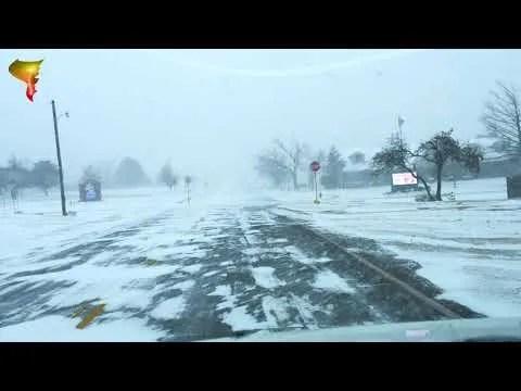 Winter storm impacting central Oklahoma! (February 14, 2021)