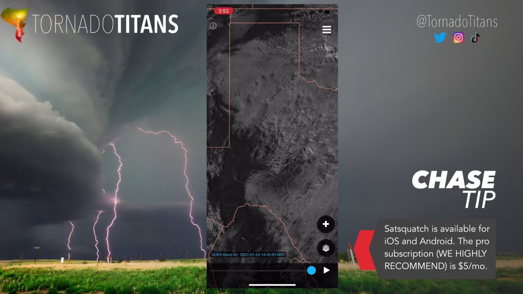 The ULTIMATE companion app to radar for storm chasing?! | Satsquatch Demo