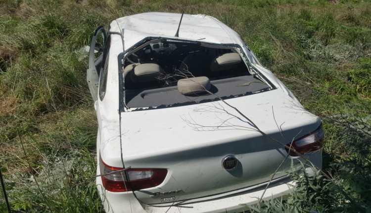 Sierra de la Ventana – Vuelco vehicular sin heridos