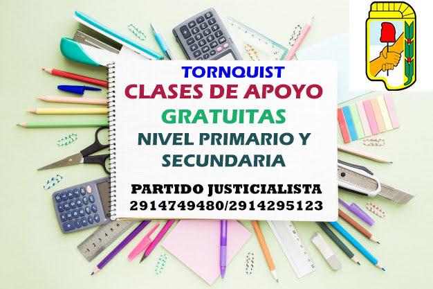Tornquist – Clases de apoyo escolar gratuitas, nivel primario y secundario