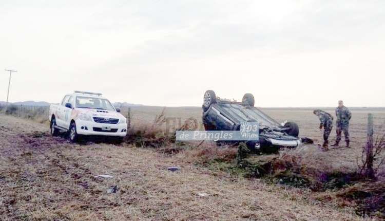 Ruta 76 – Vuelco con heridos en cercanías de San Eloy