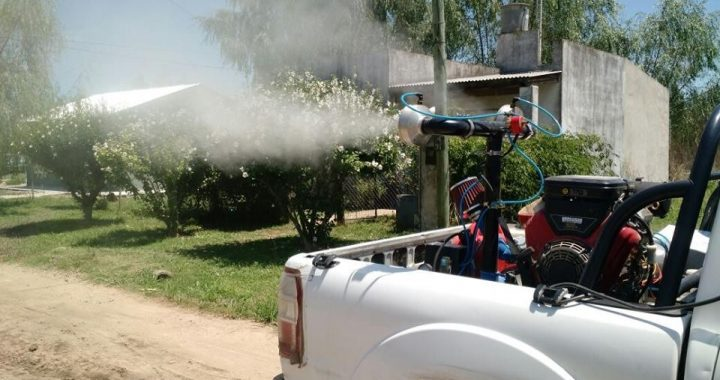 Tres Picos y La Gruta: Hoy se realizan tareas de fumigación