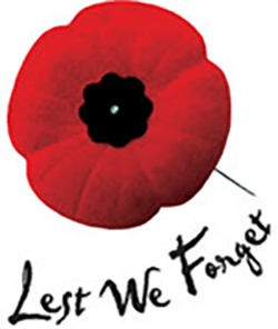 Lest We Forget, Remembrance Day Poppy