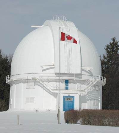 Looking out: The David Dunlop Observatory is home to Canada's largest optical telescope. Photo by Ayoub Ansari