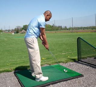 Jajeevan Ratnasingham playing golf
