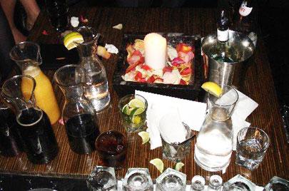 Bottle service at Century Room. Photo courtesy of Jeremy Fernie, Lyme Productions.
