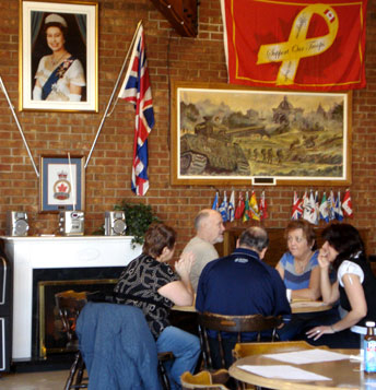 Archie McLachlan and family enjoy Sunday brunch at Branch 258 of the Royal Canadian Legion.