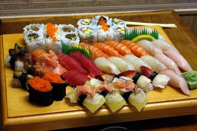 A westernized sushi restaurant mainly serves roll sushi.