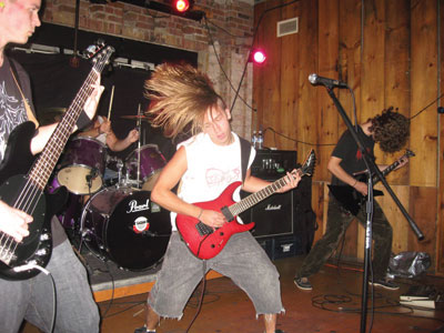 Local death metal band From Ruins perform at Reilly's Bar in Toronto.