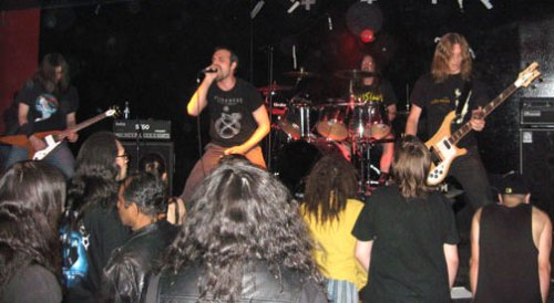 Toronto metal band Burn To Black performs on Saturday May 19, 2007 at The Metal Bar, which closed five months later. At the time, The Metal Bar was considered one of the hotspots in Toronto for the thriving metal scene.