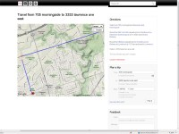 The TTC's new online trip planner, myttc.ca, gives users a step-by-step plan for a journey on the TTC, including a map of the route and the distance needing to be travelled by foot.