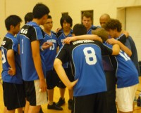 Earl Haig plots its strategy against Georges Vanier during a timeout.
