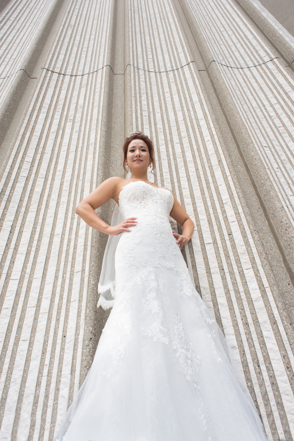 Bride at Toronto city Hall