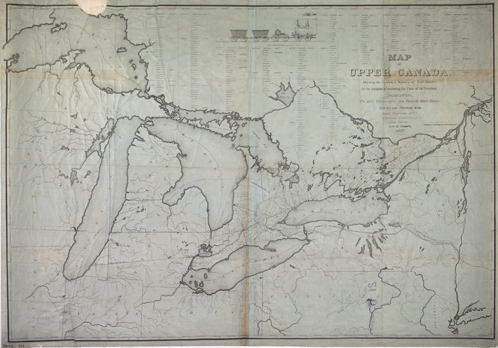 Map Collection   Special Collections   Rare Books   Toronto Public     Map of Upper Canada shewing the proposed routes of railroads