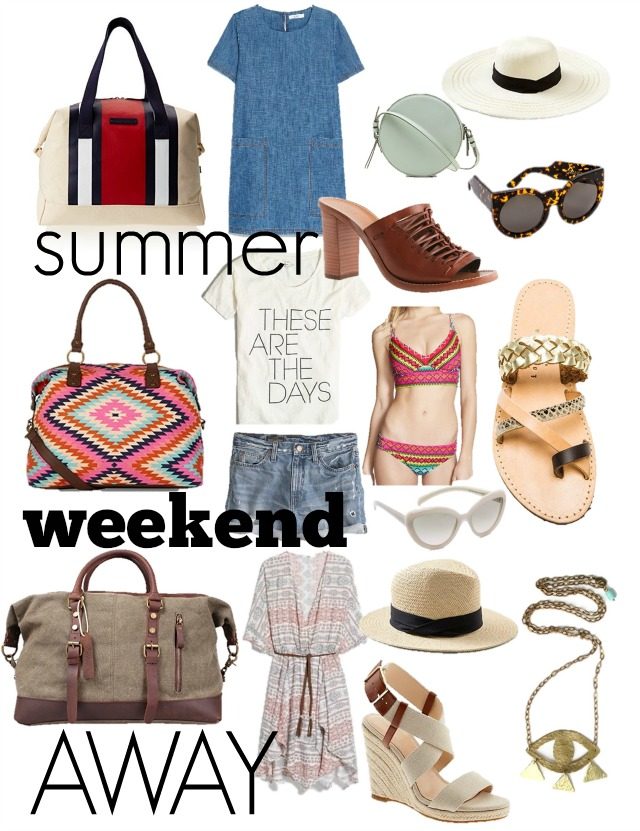 what to pack for a weekend trip  summer edition  u22c6 chic everywhere