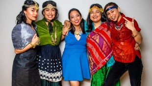 Tita Collective, five women dressed in Filipino regalia