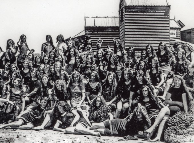 Trainee teachers Torquay beach