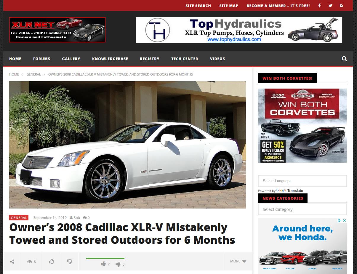 Cadillac XLR Net