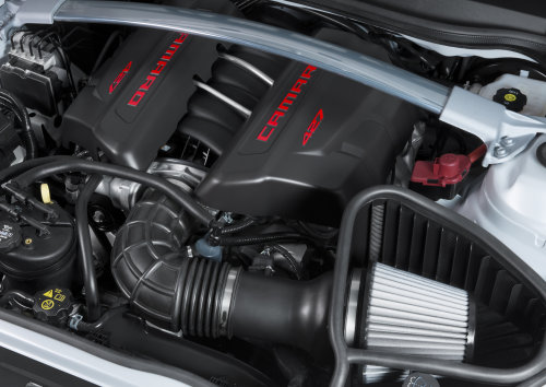 The Engine Bay Of The New Chevrolet Camaro Z 28