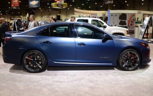 The Side Profile Of The 2013 Chevrolet Malibu Performance