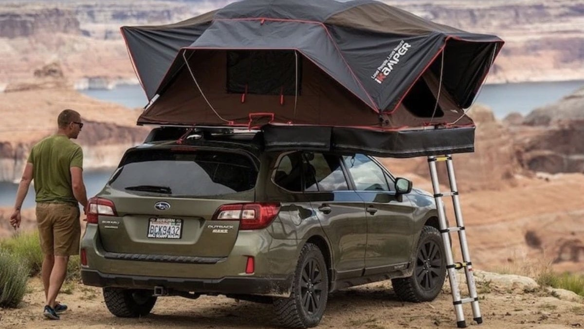 how to easily set up a roof top tent on