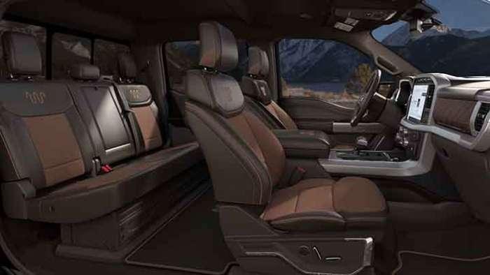 2021 Ford F-150 interior King Ranch
