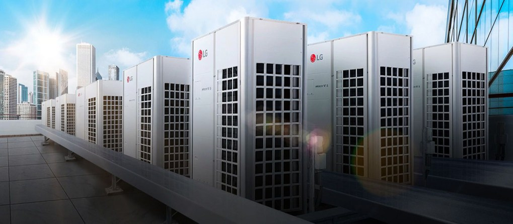 Multiple VRF systems on a roof