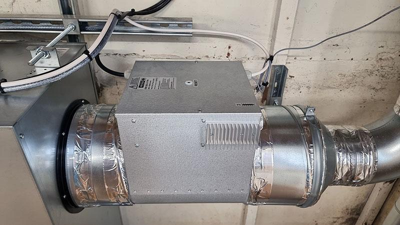 Ventilation system heater battery
