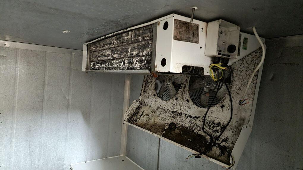 Crosskills Florist - Flower Storage Cold Room - Old Evaporator