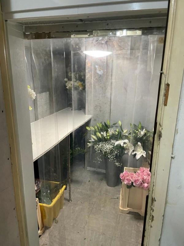 Flower Storage Cold Room - Door Curtains