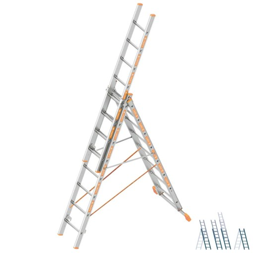 Escalera transformable de tres tramos TOPIC 1040