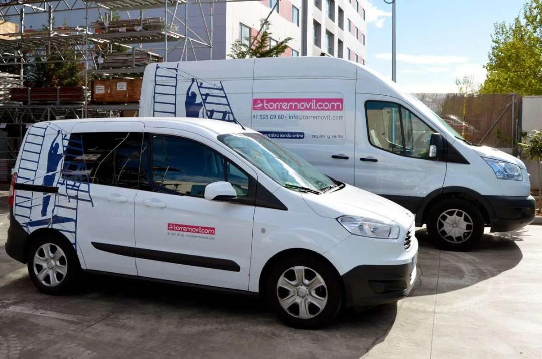 Vehiculos para el transporte de andamios