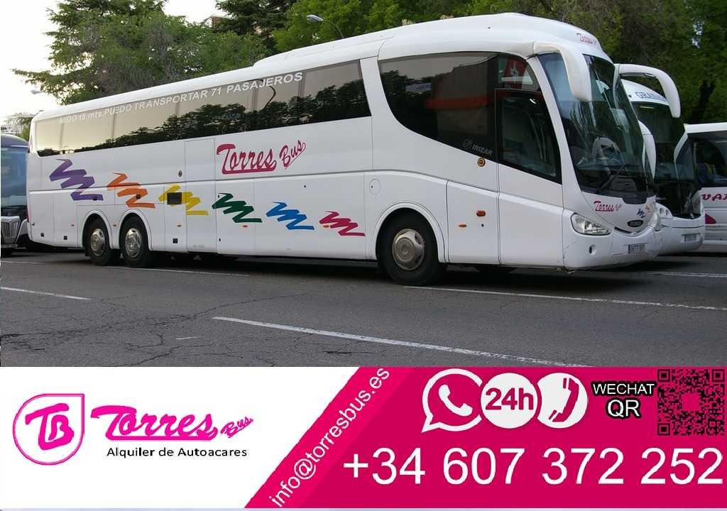 alquiler de autobuses alquilar autobuses madrid precio baratos