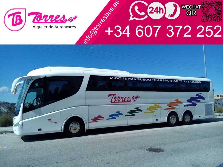 allenatore noleggio autobus 70 plazas compagnia madrid