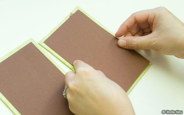 Add inside liner paper to the covers