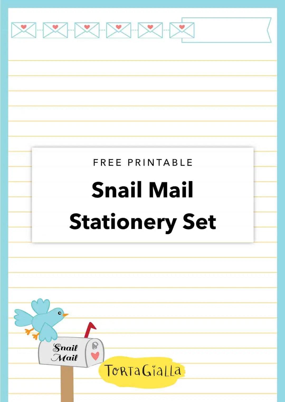 free printable snail mail stationery set