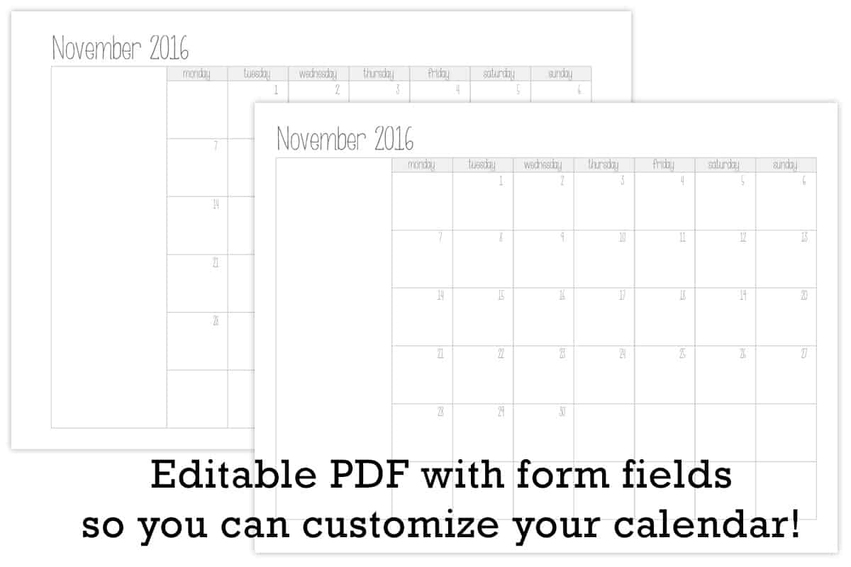 Free My Make Own Calendar