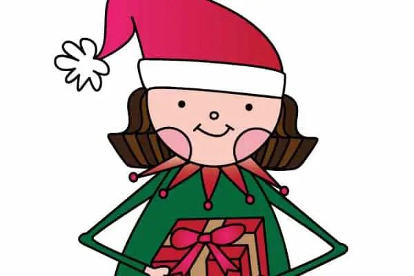 free girl elf printable