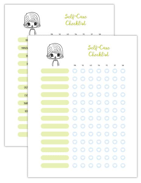 Self-Care Checklist printables