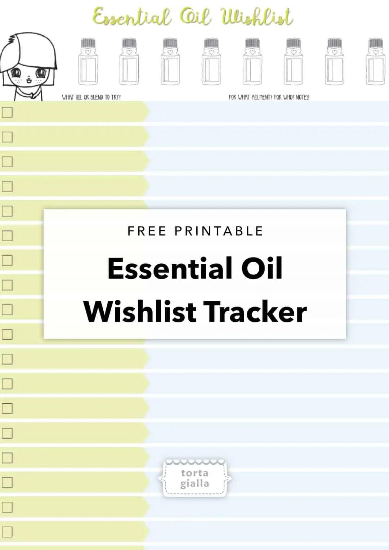 Essential Oil Wishlist Tracker - Free Printable PDF