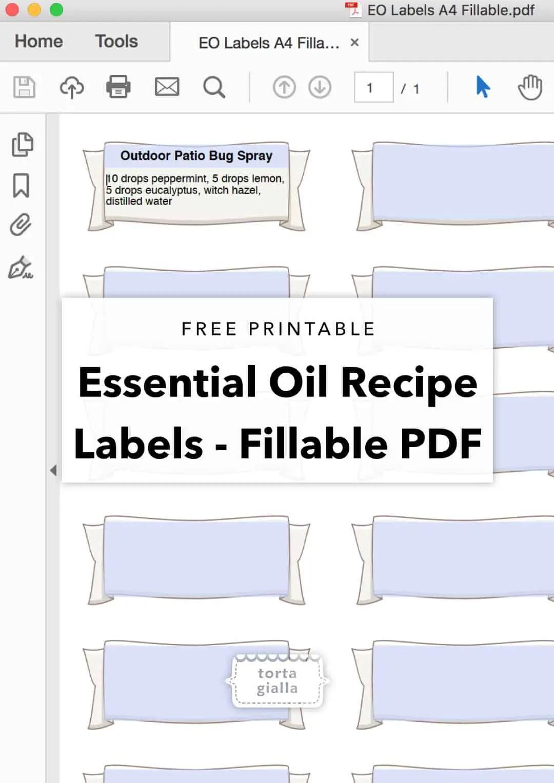Free Printable Essential Oil Bottle Labels Tortagialla