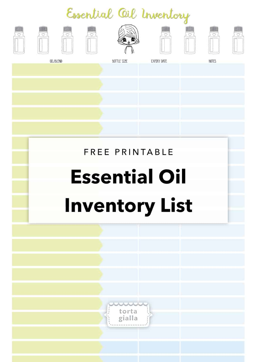 free printable essential oil inventory list tortagialla