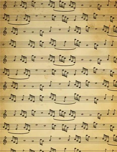 free printable vintage sheet music